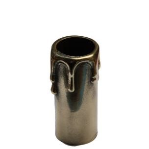 Cast Brass Wax Drop Candle Tube 7.5cm
