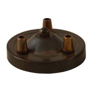 Rosace de plafond avec trois serre-câbles