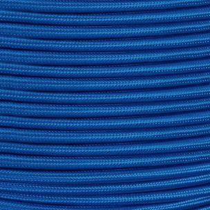 Electric Blue Fabric Braided Cable, 2 Core Round