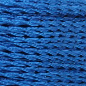 Câble bleu nuit flexible tressé et torsadé à 3 brins