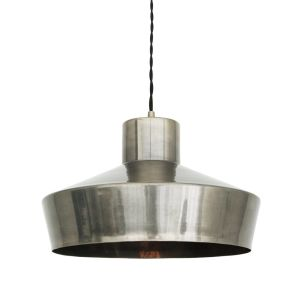 Elegance Brass Kitchen Island Pendant Light 32cm, Antique Silver