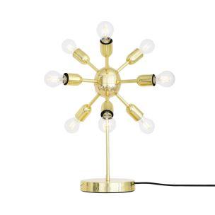 Glenties Brass Sputnik Table Lamp, 10-Light, Polished Brass