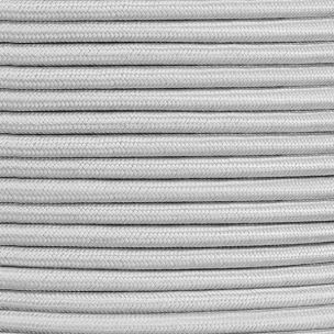 Grey Fabric Braided Cable, 3 Core Round