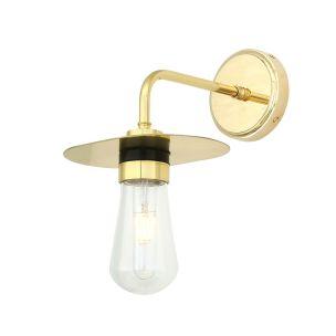 Kai Modern Brass / Glass Bathroom Wall Light IP65