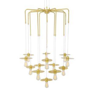 Kigoma Modern Brass Statement Chandelier, 13 Light