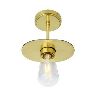 Kwaga Brass Flush Bathroom Ceiling Light IP65
