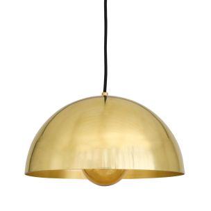 Maua Mid-Century Brass Dome Pendant Light 30cm, Polished Brass