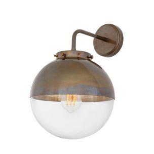 Mica Brass / Glass Dome Bathroom Wall Light IP44