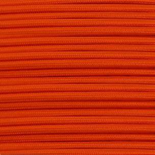 Orange Fabric Braided Cable, 3 Core Round
