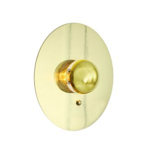 Qala Modern Brass Disc Wall Light 30cm, Polished Brass