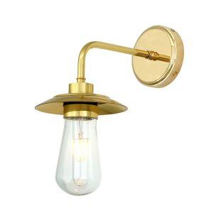 Ren Modern Brass / Glass Bathroom Wall Light IP65