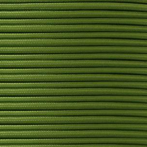 Câble vert sauge flexible rond et tressé à 2 brins