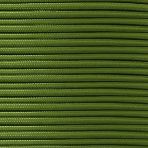 Sage Green Fabric Braided Cable, 3 Core Round