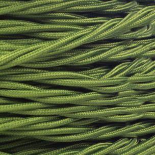 Câble vert sauge flexible tressé et torsadé à 3 brins