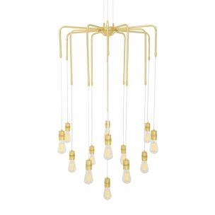 Sela Modern Brass Chandelier, 13-Light, Four Colours