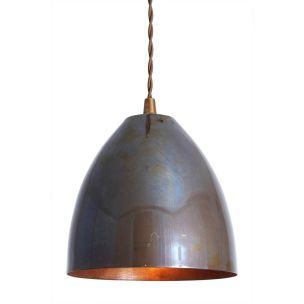 Skyler Small Industrial Cone Pendant Light 16cm, Antique Brass