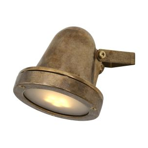 Thames Adjustable Outdoor Spot Light IP64, Antique Brass