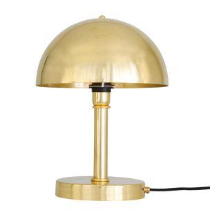 Turku Modern Brass Dome Table Lamp, Polished Brass