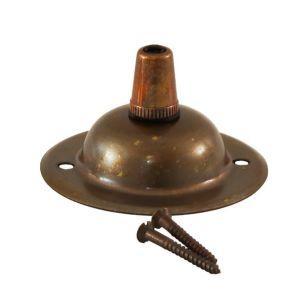 Rosace de plafond vintage avec serre-câble