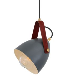 Lambeth Pendant with Rescued Fire-hose Strap IP65