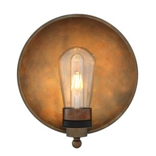 Galit Brass Dish Bathroom Wall Light 25cm IP65