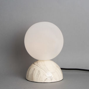 Ovata Marbled Ceramic Glass Ball Table Lamp