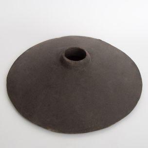 Pyrus Ceramic Lamp Shade, Black Clay 27cm