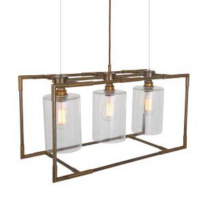 Blessington Contemporary Brass / Glass Chandelier