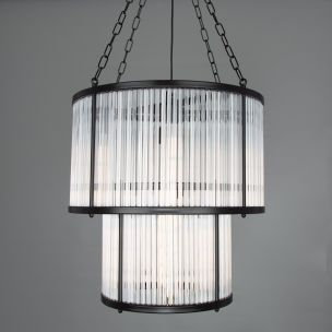 Caledon Two-Tier Chandelier with Glass Rods