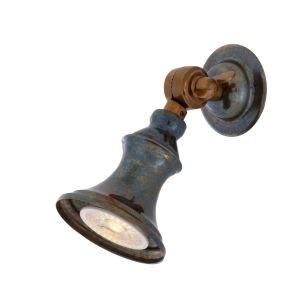 Accra Traditional Adjustable Brass Wall Spotlight, Antique Brass