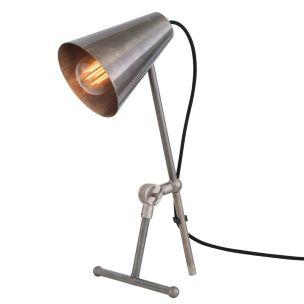 Moya Modern Adjustable Brass Table Lamp, Antique Silver