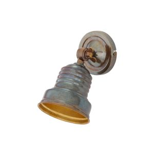 Sucre Industrial Adjustable Brass Spot Light, Antique Brass