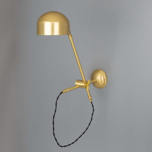 Bogota Swing Arm Wall Light in Satin Brushed Brass