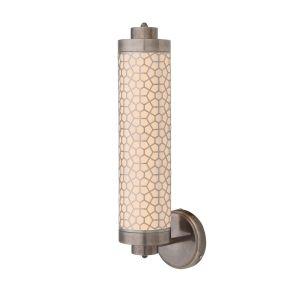 Ocala Hexagonal Brass Mesh Wall Light