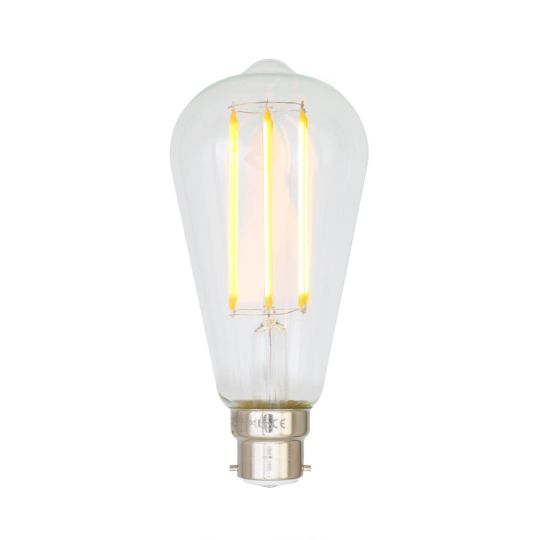 B22 4W LED teardrop dimmable filament bulb 14.2cm