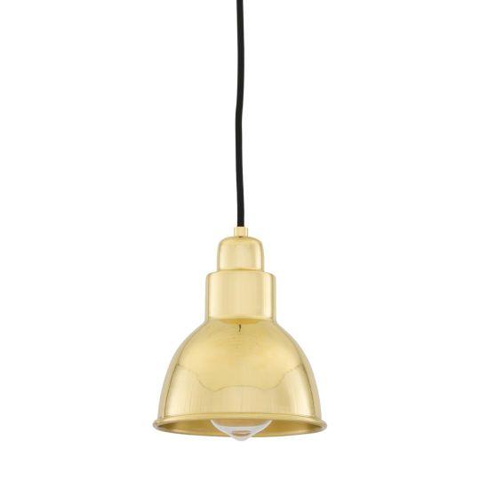 Baku Vintage Brass Pendant Light 15cm, Polished Brass