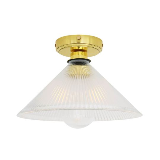 Beck Prismatic Bathroom Ceiling Light 30cm IP65