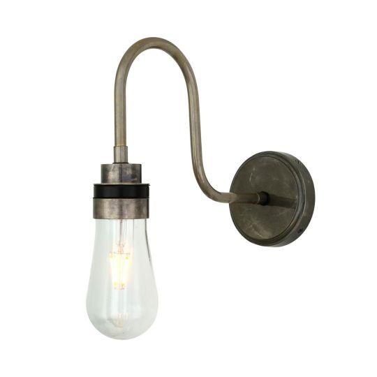 Bo Glass Modern Swan Neck Bathroom Wall Light IP65