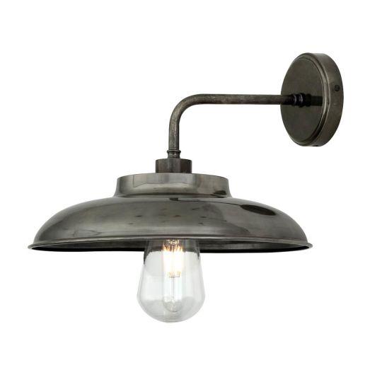 Darya Industrial Brass Outdoor Wall Light 32cm IP65