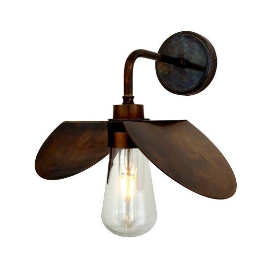 Hali Modern Brass / Glass Bathroom Wall Light IP65