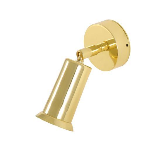 Jasper Modern Brass Wall Spotlight with Swivel, Polished Brass