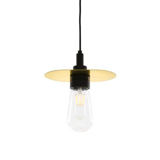 Kai Brass / Glass Bathroom Pendant Light IP65