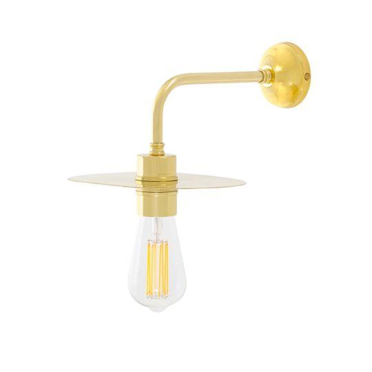 Kigoma Modern Wall Light with Brass Shade, Polished Brass
