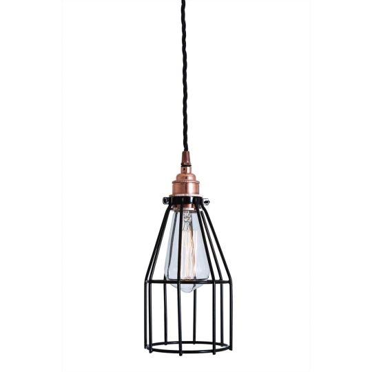Lima Industrial Cage Copper Pendant Light
