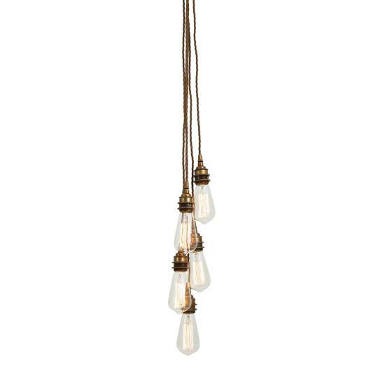 Lome Vintage Pendant Cluster, Choose 3-10 Lights