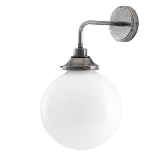 Pelagia Opal Globe Bathroom Wall Light 25cm IP44