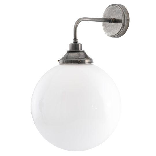 Pelagia Opal Globe Bathroom Wall Light 30cm IP44