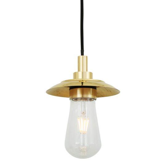 Ren Brass / Glass Bathroom Pendant Light IP65