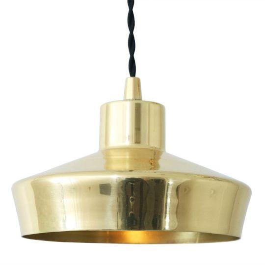 Splendor Small Modern Brass Pendant Light 16cm, Polished Brass