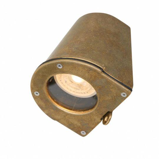 Wade Vintage Outdoor Brass Spot Light IP54, Natural Brass